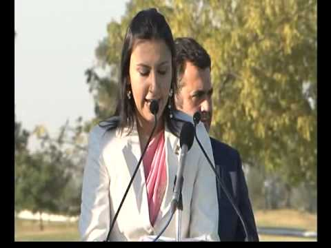 anchoring for Euro cup golf tournament at Gujarat 2011