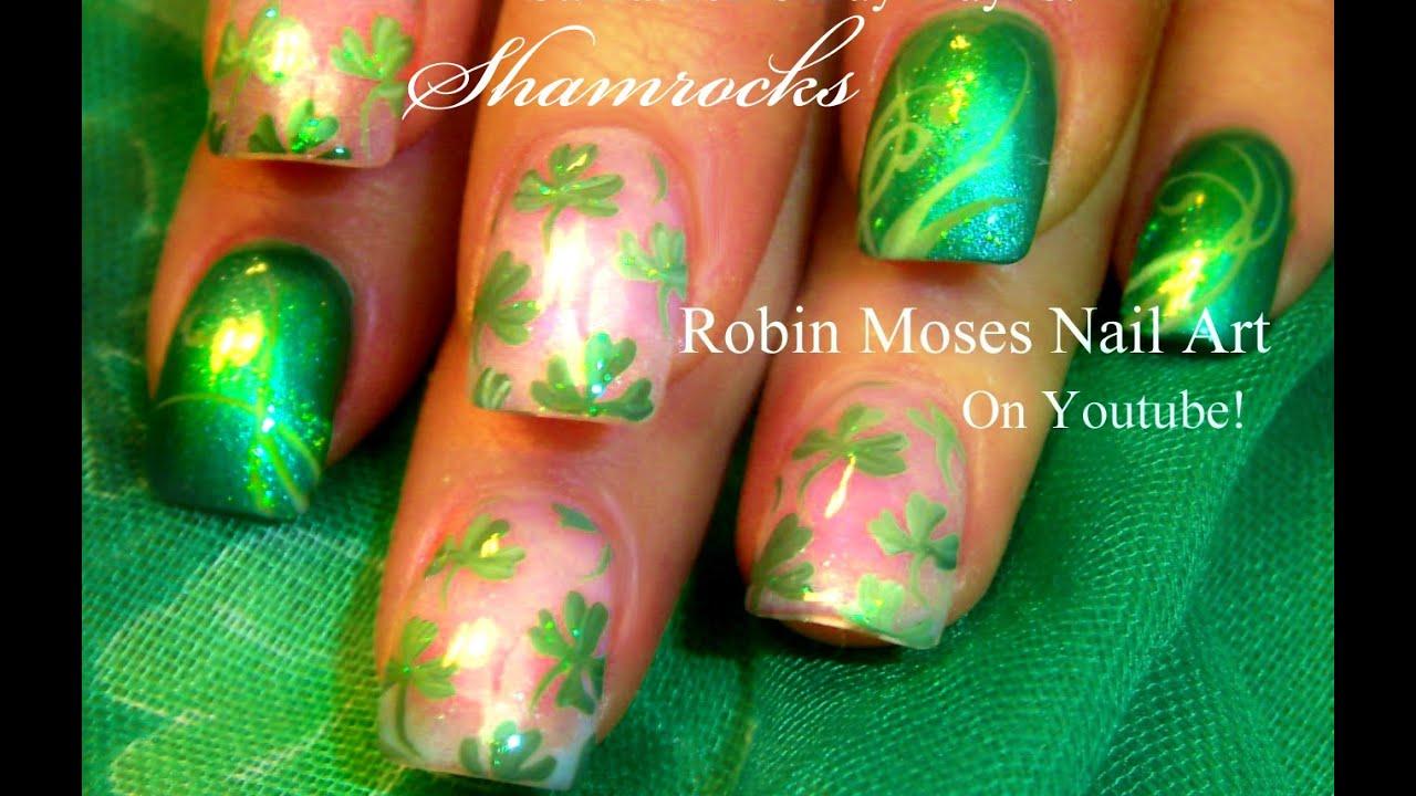 shamrock nail art - Delafield, WI | St. Patrick's Day / Irish / Irela ..., shamrock nail art - Delafield, WI | Nail Art | Pinterest, Nail Arts : Black and ...