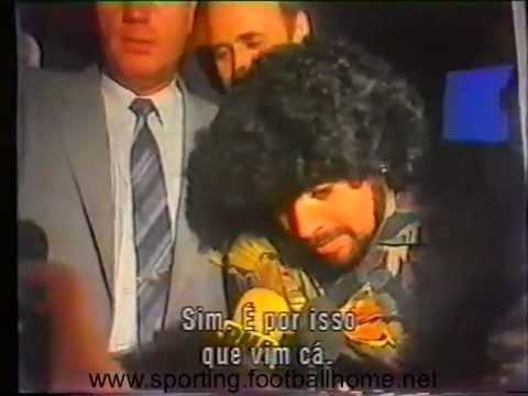 Reportagem da chegada de Maradona, para o Sporting - Nápoles de 1989/1990