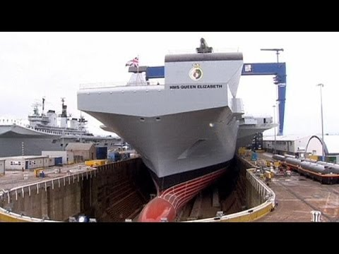Queen Elizabeth christens Britain's biggest warship