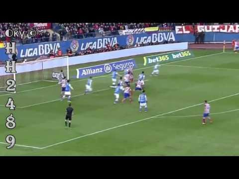 Atletico Madrid vs Real Sociedad 4 0   RESUMEN GOLES   Atletico Madrid 4 0 R Sociedad   02 02 201448