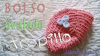 Bolso Ovalado De Trapillo Tutorial DIY Crochet XXL