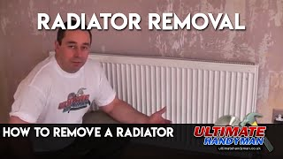 How to remove a radiator from a central heating system