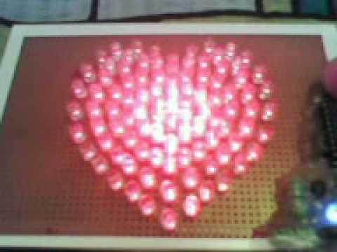 Electronic LED heart