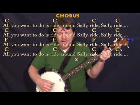 Mustang Sally (WILSON PICKETT) Banjo Cover Lesson in C with Chords/Lyrics