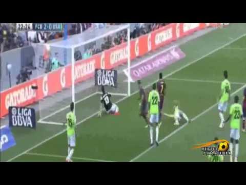 Barcelona vs Osasuna 7-0 highlightملخص برشلونة و اوساسونا  7-0 كل الاهداف 16/03/2014