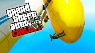 GTA 5 Online Epic Yellow Cargo Plane! Crazy