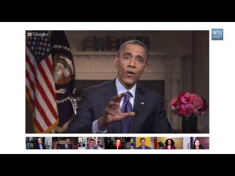 President Obama on Computer Programming in High School in a Google+ Hangout