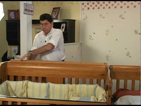 Crib 4 life adult bed conversion youtube for Cradle bed for adults