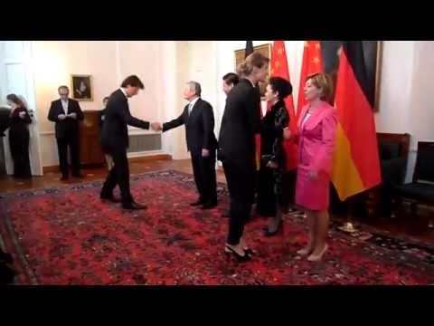 Chinesischer Staatspräsident Xi Jinping bei Bundespräsident Gauck