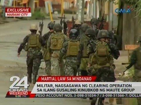 Militar, nagsagawa ng clearing operation sa ilang gusaling kinubkob ng Maute group