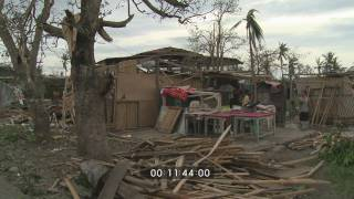 Super Typhoon Megi Hits Philippines As Cat. 5 Stock Footage Screener - 1920x1080 30p