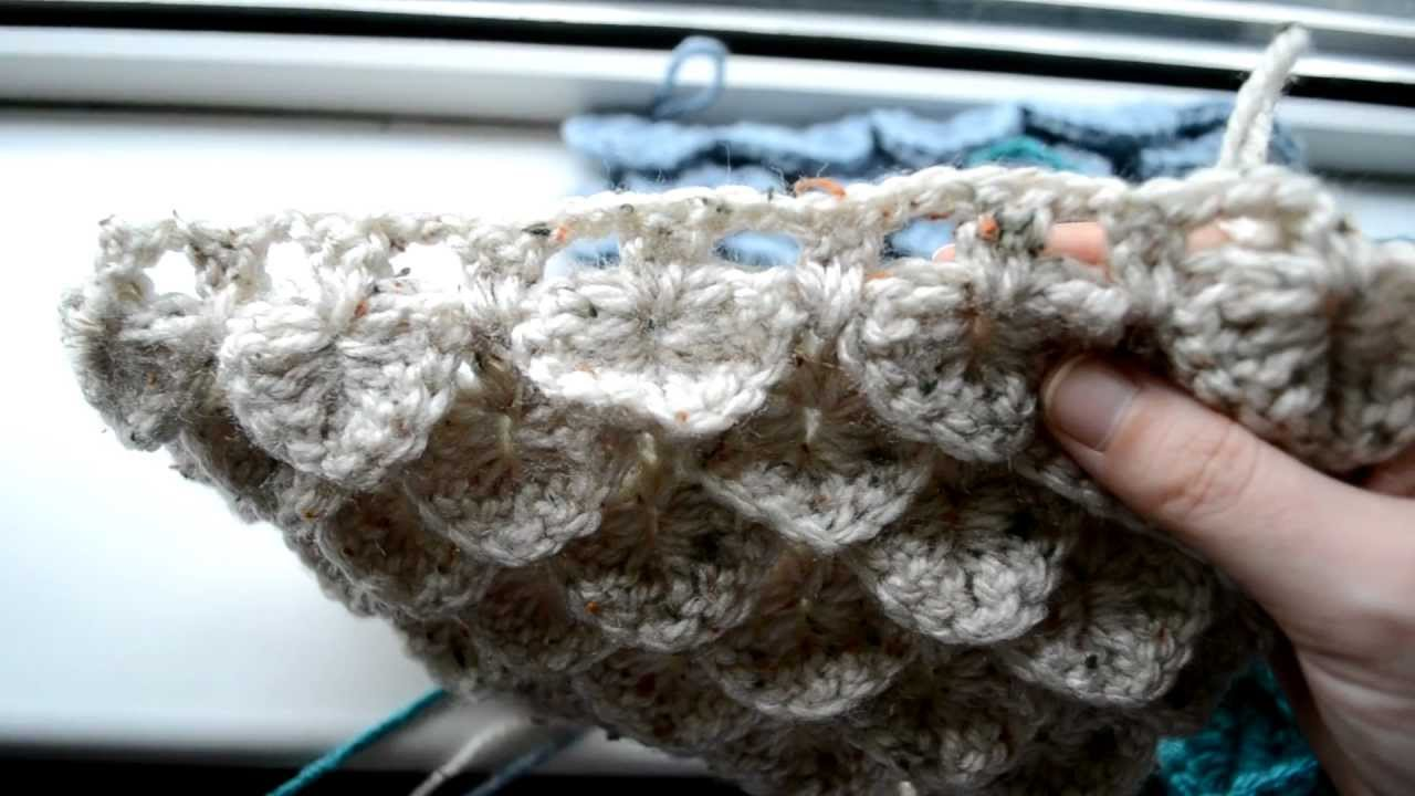 Crocheting Lessons : Crochet Lessons - How to work the Crocodile Stitch - Part 1 - YouTube