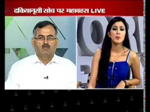 Rajeev Raghunandan with Nikunj Mallik in India News Haryana's Best show Prime Time .