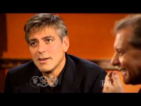 George Clooney with Prof. Richard Brown