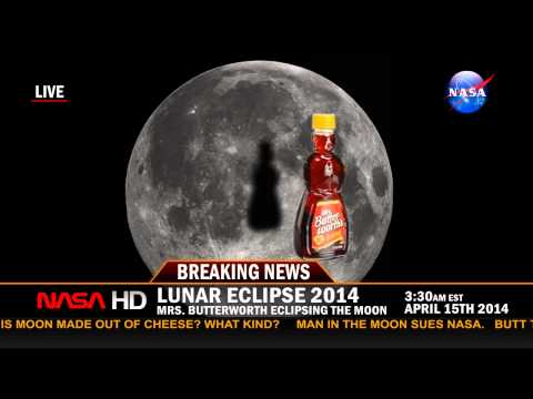 Mrs. Butterworth Eclipsing the Moon (Lunar Eclipse 2014)