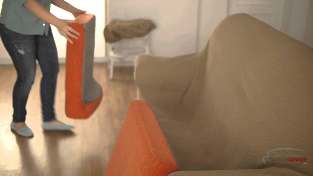 housse de canape duplex extensible youtube. Black Bedroom Furniture Sets. Home Design Ideas
