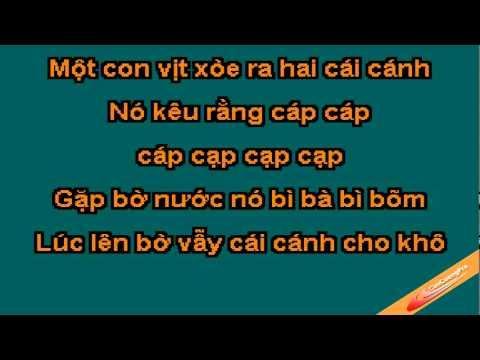 Mot Con Vit Karaoke - Xuan Mai - CaoCuongPro
