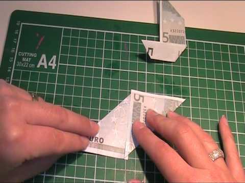 anleitung origami geldscheine falten seegelyacht youtube. Black Bedroom Furniture Sets. Home Design Ideas