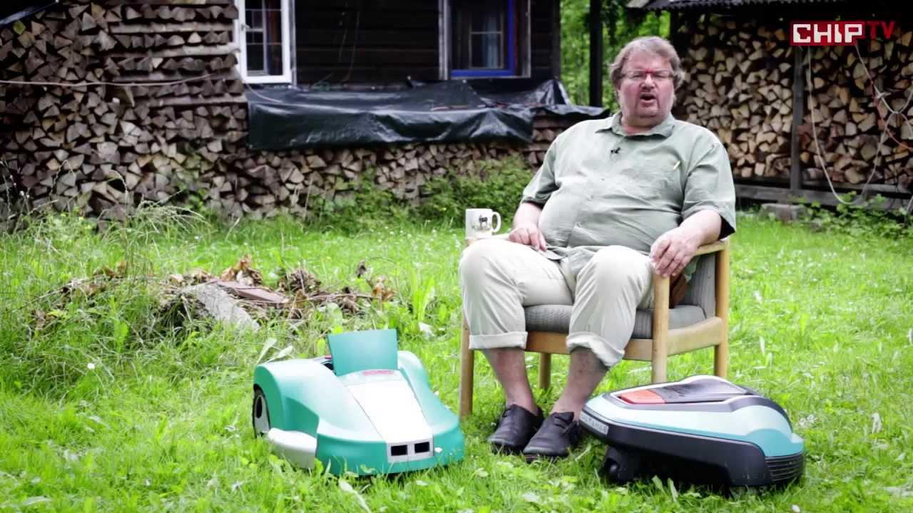 m hroboter von gardena und bosch test vergleich bayrisch mit deutschem untertitel chip youtube. Black Bedroom Furniture Sets. Home Design Ideas