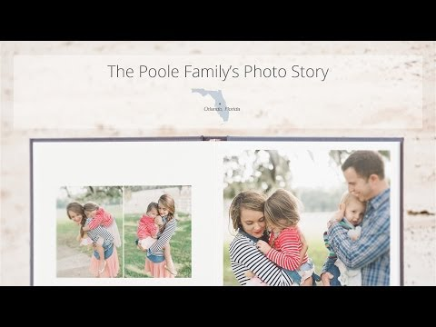 Custom Family Portrait Album - Design by Photo Stories