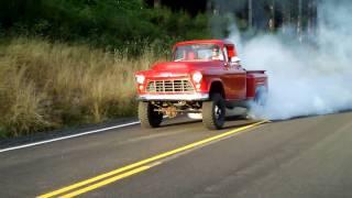 55 Chevy Cummins-killer Burnout