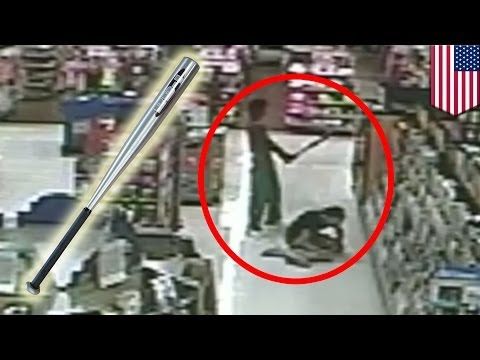 Random attack caught on camera: Walmart shopper attacked by man with baseball bat