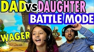 Skylanders Swap Force Dad Vs. Daughter Wager Battle Mode
