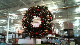 large christmas wreath youtube - Large Outdoor Christmas Wreath