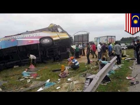 Malaysia bus crash: 3 dead, including young boy