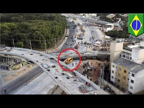 World Cup Accident: Belo Horizonte Bridge Collapses at Construction Site