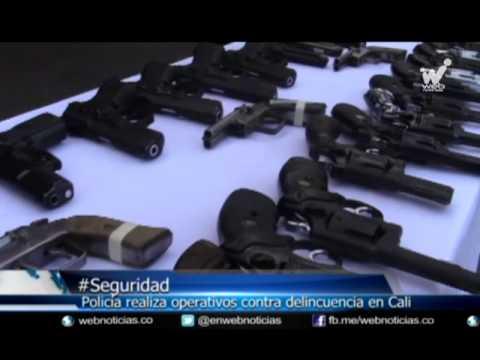 Policía decomisa armas y alucinógenos en Cali