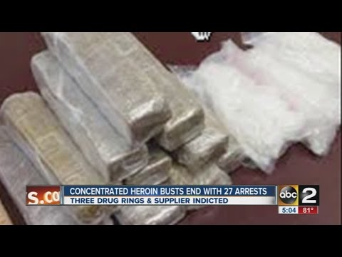 Heroin bust in Baltimore set nets mass arrests