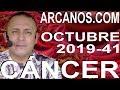 Video Horóscopo Semanal CÁNCER  del 6 al 12 Octubre 2019 (Semana 2019-41) (Lectura del Tarot)