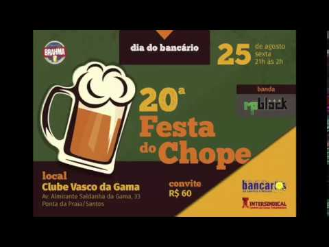 Sexta 25/08, tem a 20ª Festa do Chope - Dia do Bancário