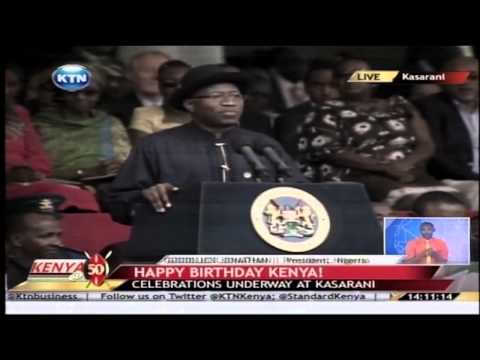 Kenya at 50: President GoodLuck Jonathan speech