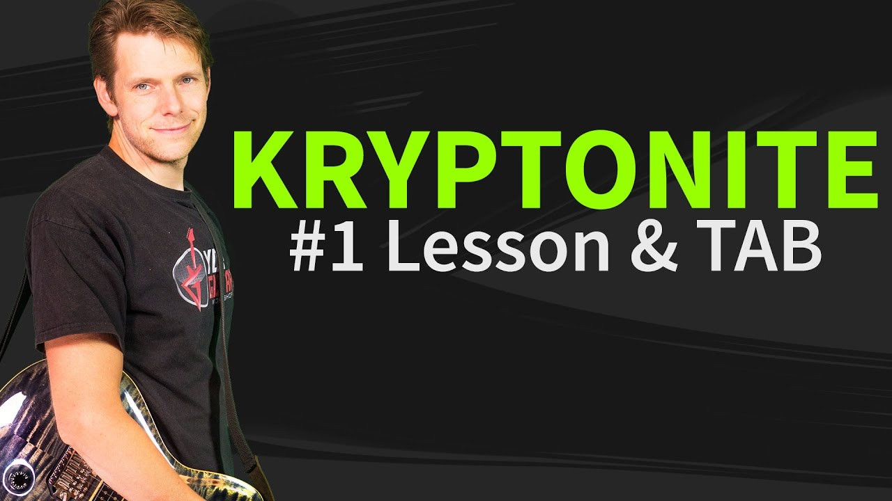 Guitar Lesson u0026 TAB: Kryptonite by 3 Doors Down - Part 1: How to play Introu0026Verse - YouTube