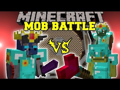 Goblin Boss Vs. Walker King - Minecraft Mob Battles - Arena Battle - Better Dungeon Mod Battles
