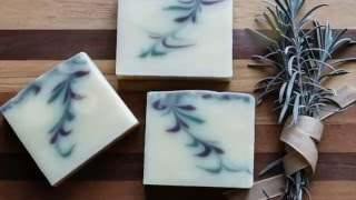 Reverse Feather Swirl Cold Process Soap