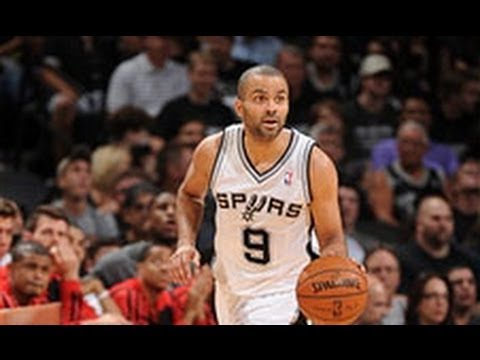 Tony Parker's Magical Dish Behind His Head to Duncan