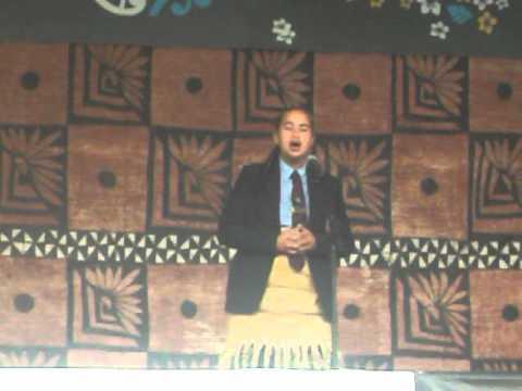 1st place year 13 Lea Faka-Tonga Speech Polyfest 2013