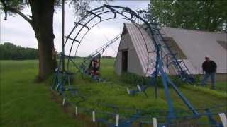 Dude Builds A Backyard Roller Coaster