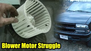 """98 Chevy S10 Blower Motor Replacement """"Detailed"""""""
