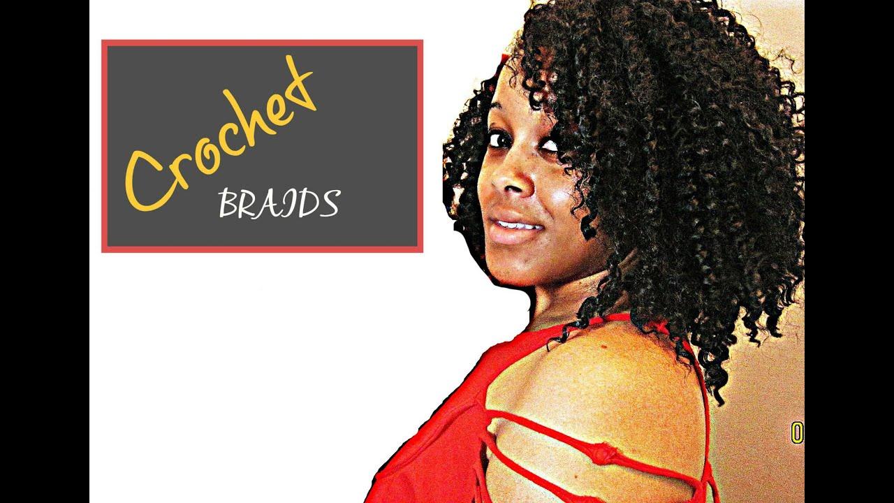 Crochet Braids w/Model Model Water Wave Hair - YouTube
