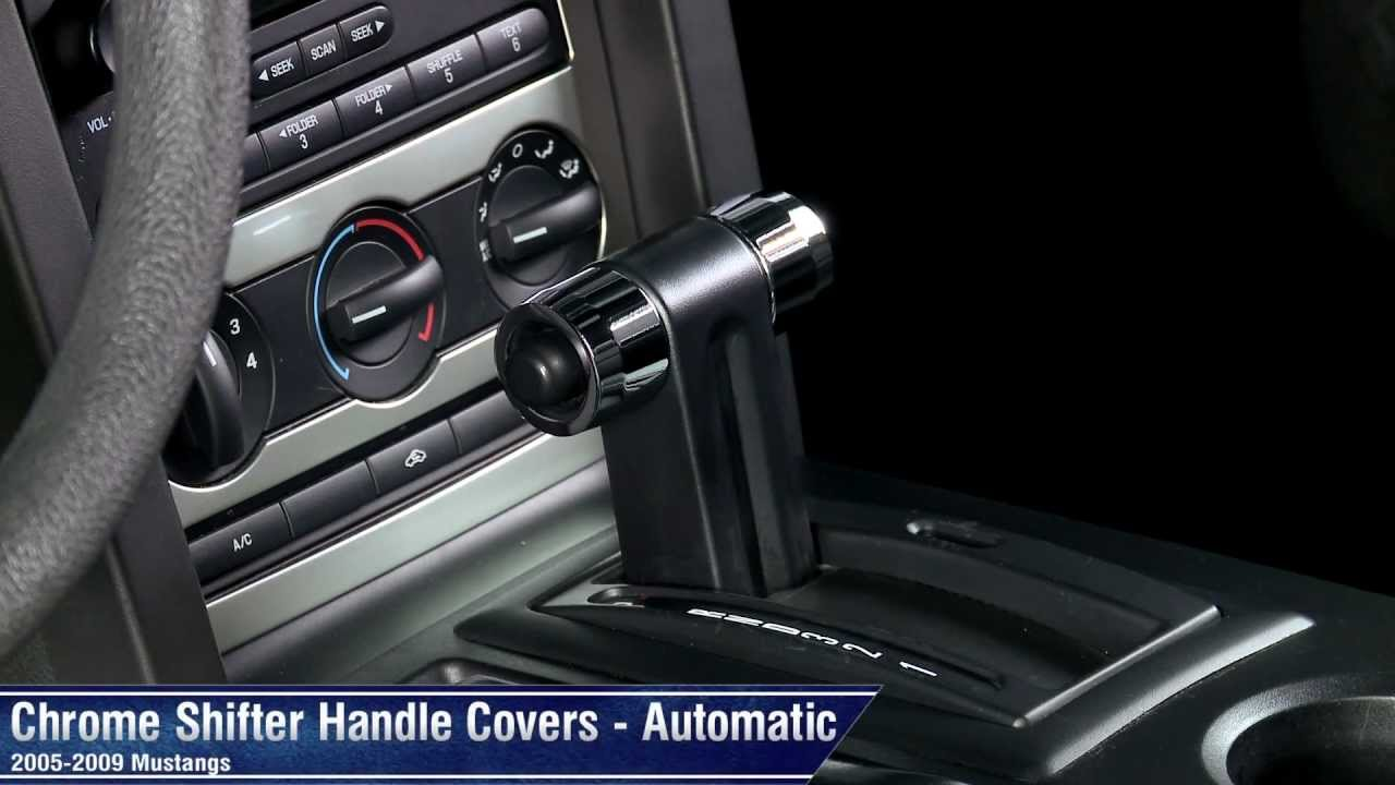 Mustang Chrome And Satin Shifter Handle Covers Automatic