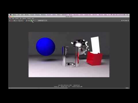 Multi Pass Rendering in Mental Ray - Maya 2011 - 01