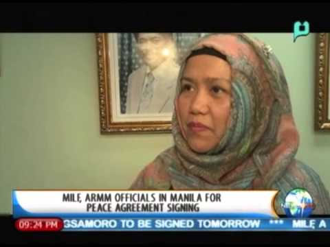 NewsLife: MILF, ARMM officials in Manila for peace agreement signing
