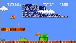 Genetic Algorithms: Mario level 1-1 Completely Random Jumping. view on youtube.com tube online.