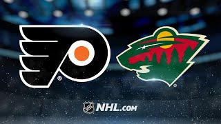 Dubnyk, Wild shut down Flyers at home, 3-0