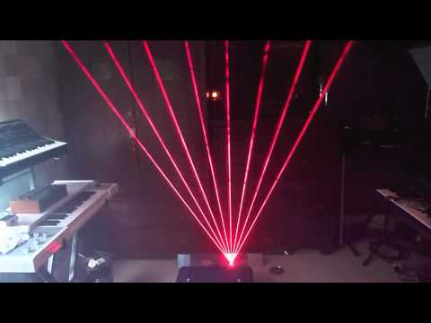 RGB Laser Harp Demonstration from our customer in UK